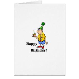 Torta de cumpleaños - hombre tarjeta de felicitación