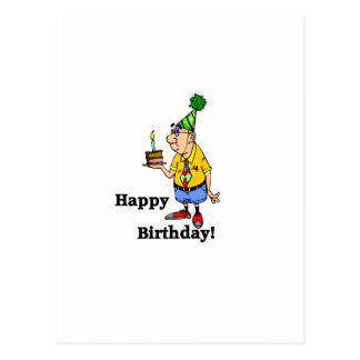 Torta de cumpleaños - hombre tarjetas postales