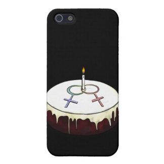 Torta de cumpleaños lesbiana iPhone 5 protectores
