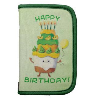 Torta de cumpleaños linda de Kawaii Organizadores