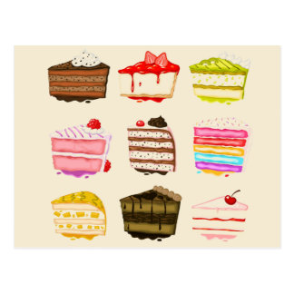 Torta de cumpleaños linda de la torta con crema postal