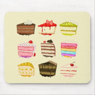 Torta de cumpleaños linda de la torta con crema tapete de ratones