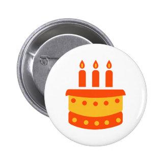Torta de cumpleaños pin redondo de 2 pulgadas