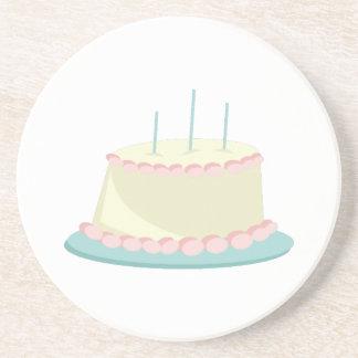 Torta de cumpleaños posavasos manualidades