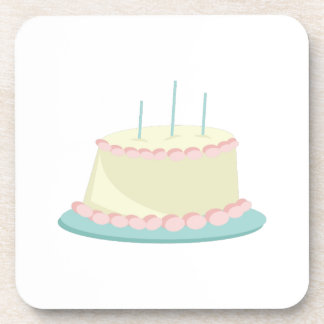 Torta de cumpleaños posavasos de bebidas
