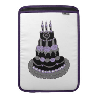 Torta de cumpleaños púrpura gótica funda  MacBook