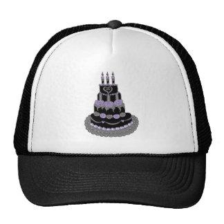 Torta de cumpleaños púrpura gótica gorra