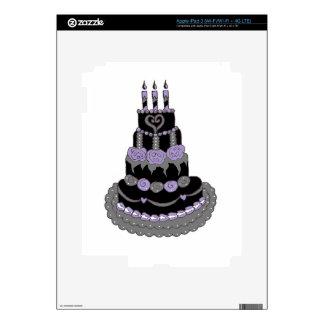 Torta de cumpleaños púrpura gótica iPad 3 pegatina skin