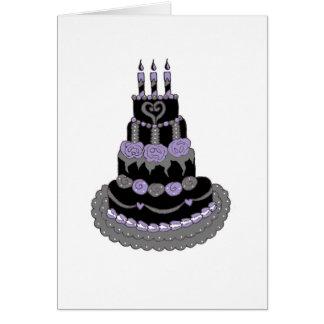 Torta de cumpleaños púrpura gótica tarjeta de felicitación