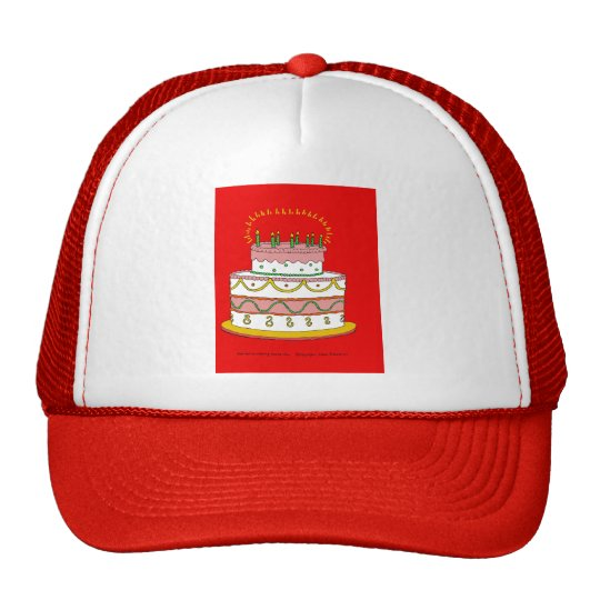 Torta de cumpleaños roja gorra