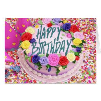 Torta de cumpleaños - tarjeta