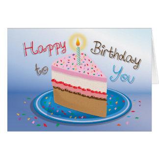 Torta de cumpleaños - tarjeta de felicitación