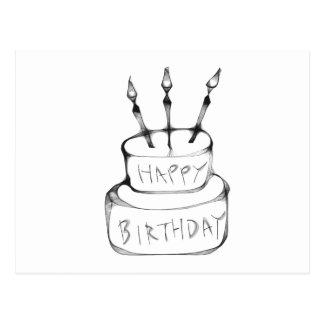 Torta de cumpleaños tarjeta postal