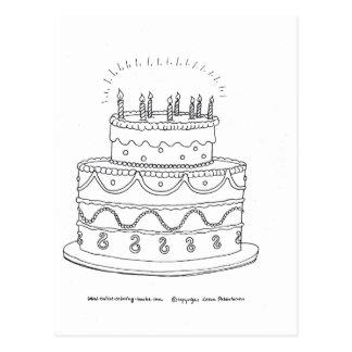 Torta de cumpleaños postales