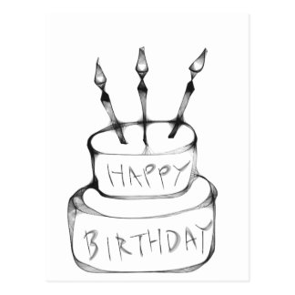 Torta de cumpleaños tarjetas postales