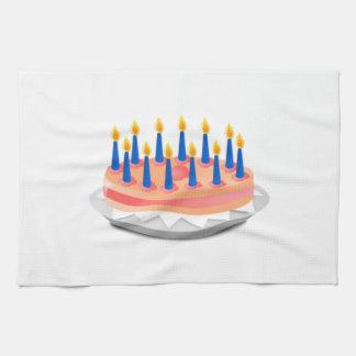 Torta de cumpleaños toalla