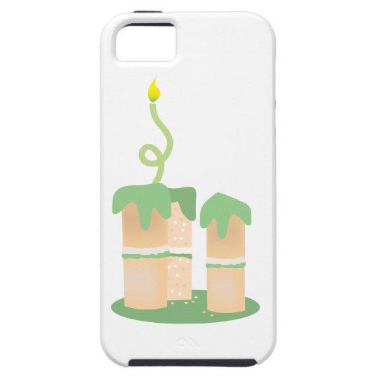 Torta de cumpleaños verde alta funda para iPhone SE/5/5s
