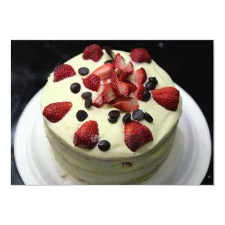 Torta de esponja invitacion personalizada