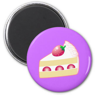 Torta de frutas de la fresa iman para frigorífico