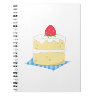 Torta de frutas de la fresa libro de apuntes