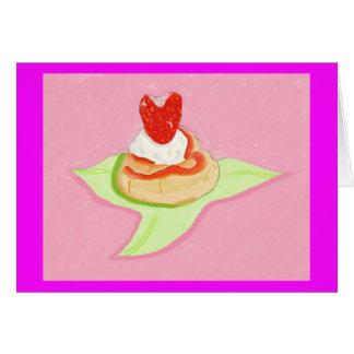 Torta de frutas de la fresa tarjeta de felicitación