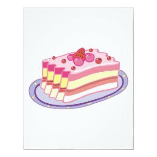 torta de frutas de la rebanada o de la fresa comunicados personales