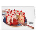 Torta de frutas retra de la fresa de la comida del tarjetas