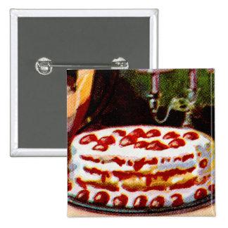 Torta de frutas retra del arte del libro de cocina pin