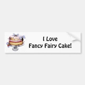 ¡Torta de hadas de lujo!   Pegatina para el parach Pegatina Para Auto