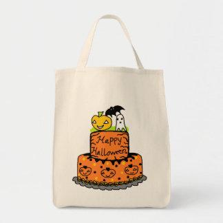 Torta de Halloween Bolsa Tela Para La Compra