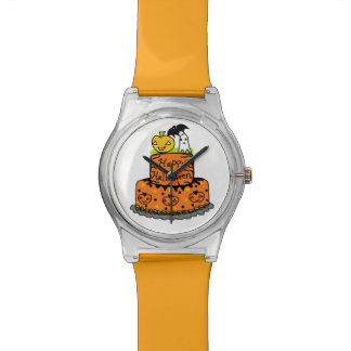 Torta de Halloween Relojes De Pulsera