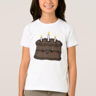 Torta de Kawaii - camiseta del chocolate Remera