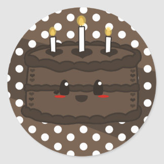 Torta de Kawaii - pegatina del chocolate