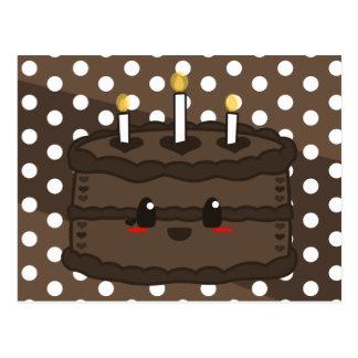 Torta de Kawaii - postal del chocolate