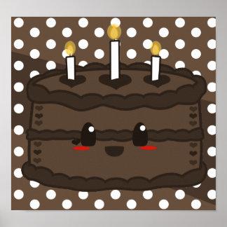 Torta de Kawaii - poster del chocolate
