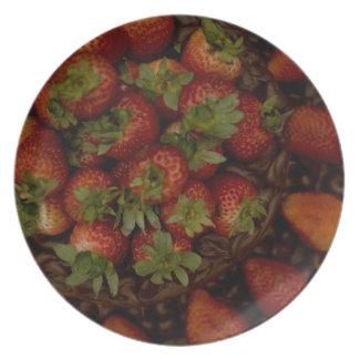 Torta de la fresa del chocolate plato
