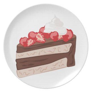 Torta de la fresa plato de comida