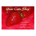 torta de la fresa tarjeta personal