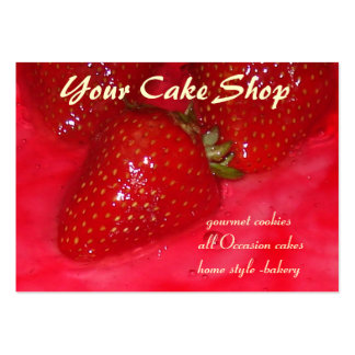 torta de la fresa tarjetas de visita grandes