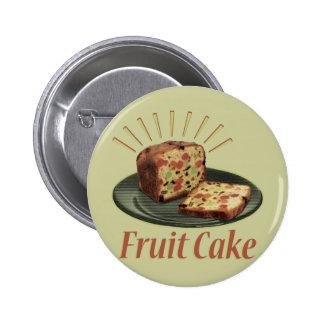 Torta de la fruta del Fruitcake Pin Redondo De 2 Pulgadas