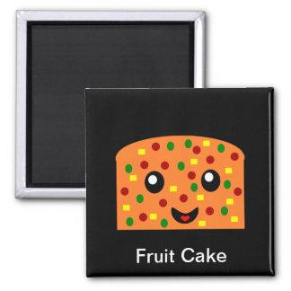 Torta de la fruta imán cuadrado