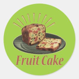 Torta de la fruta pegatinas redondas
