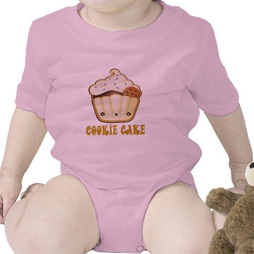 Torta de la galleta trajes de bebé