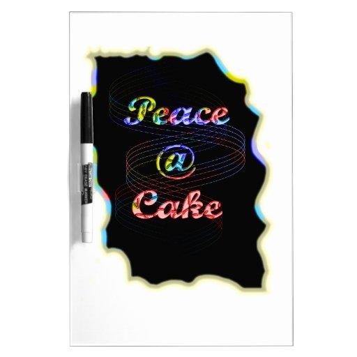Torta de la paz A @ Pizarras Blancas De Calidad
