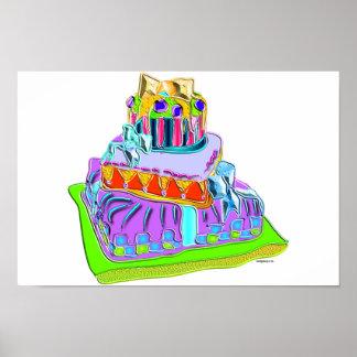 torta de la suposición de la pajarita posters