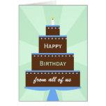 Torta de la tarjeta de cumpleaños del grupo del co