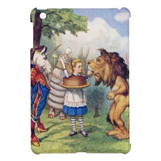 Torta de las ofertas de Alicia al león y al unicor