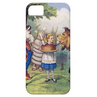 Torta de las ofertas de Alicia al león y al unicor iPhone 5 Case-Mate Carcasa