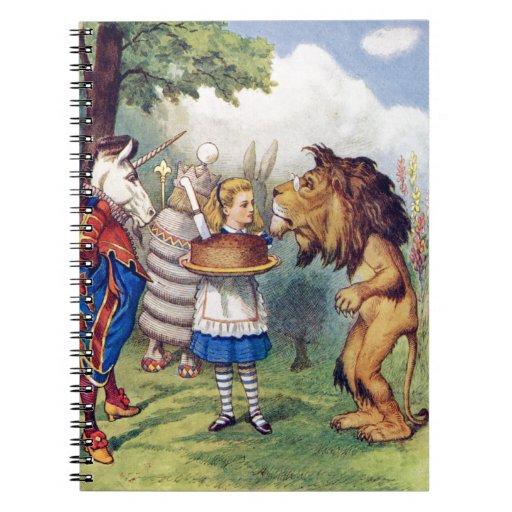 Torta de las ofertas de Alicia al león y al unicor Notebook