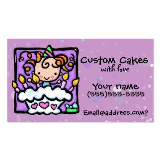 Torta de LITTLEGIRLIE que adorna la tarjeta de enc Tarjeta De Visita